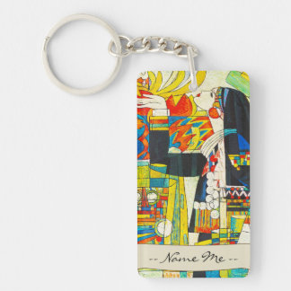 Hao Ping Memorial Ceremony Of Water Dragon Double-Sided Rectangular Acrylic Key Ring