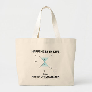 Happiness In Life Is A Matter Of Equilibrium Jumbo Tote Bag