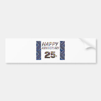 Happy 25 25th Anniversary Elegant Colorful design Bumper Sticker
