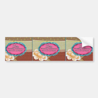 Happy 25th Wedding Anniversary Greeting Cards Bumper Sticker