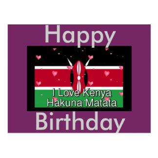 Happy Birthday I love Kenya Postcard