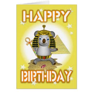 Happy Birthday King Tut Greeting Card