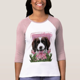Happy Birthday Mom English Springer Spaniel Baxter Tee Shirts