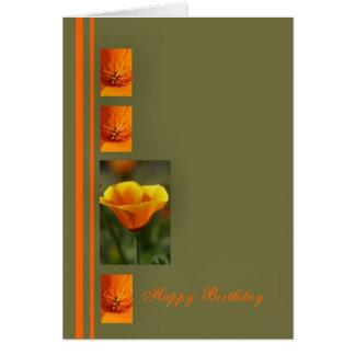 Happy Birthday Orange Greeting Card