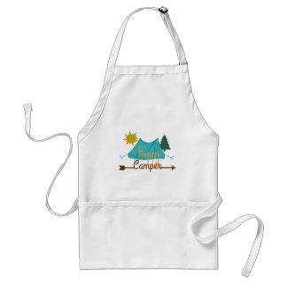 Happy Camper Tent Outdoors Standard Apron