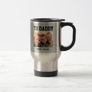 Happy Father's Day - Custom Photo/Year Stainless Steel Travel Mug