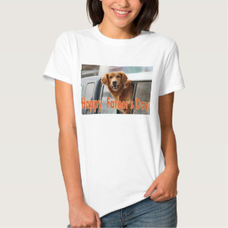 Happy Father's Day Golden Retriever Tee