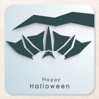 Happy Halloween Poster, Banner Or Flyer Square Paper Coaster
