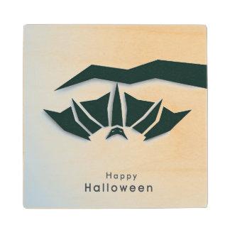 Happy Halloween Poster, Banner Or Flyer Wood Coaster