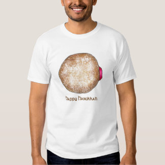 Happy Hanukkah Chanukah Jelly Donut Doughnut Tee