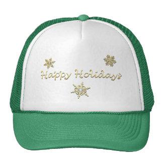 Happy Holidays Christmas Cap