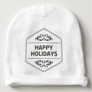 Happy Holidays Custom Background Baby Beanie