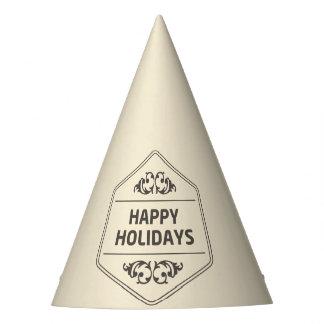 Happy Holidays Custom Background Party Hat