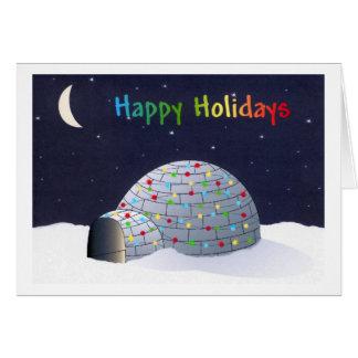 Happy Holidays-igloo Greeting Card