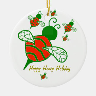 Happy Honey Holiday Ornament