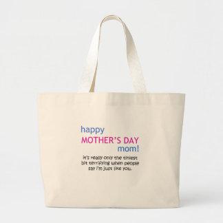 happy mother's day jumbo tote bag