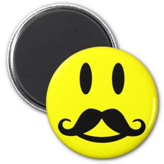 Happy Mustache Smiley magnet