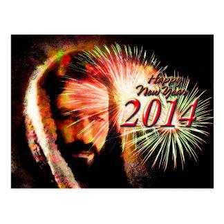 Happy New Year 2014 Love Jesus Postcard
