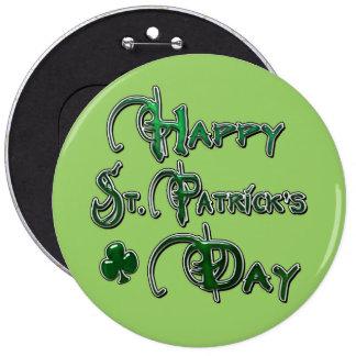 Happy St Patricks Day 6 Cm Round Badge