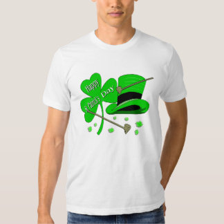 Happy St Patrick's Day Shamrock Tee Shirts