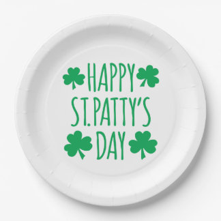 Happy St. Patty's Name 9 Inch Paper Plate