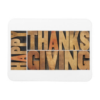 Happy Thanksgiving - Greetings Or Wishes Rectangular Photo Magnet