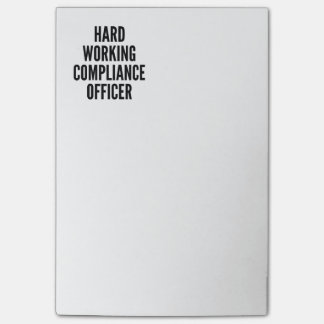 Hard Working Compliance Officer Post-it® Notes