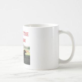 harness racing basic white mug
