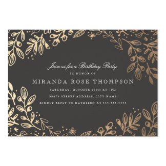 Harvest Flowers Birthday Party Invite