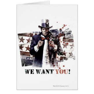 Harvey Dent - We Want You! Greeting Card