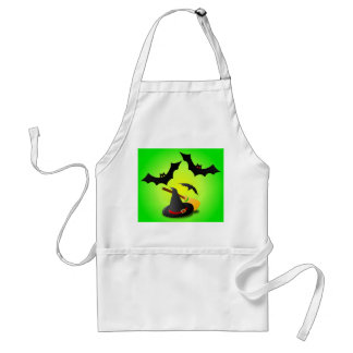 Hat Broom Red and Bat Green Standard Apron