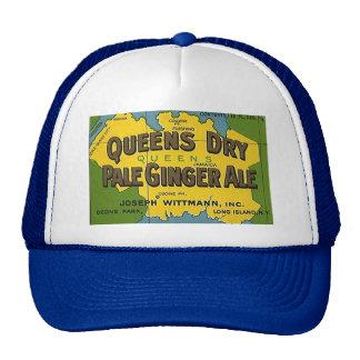 HAT~ VINTAGE Queens Dry Pale Ginger Ale Soda Map Cap