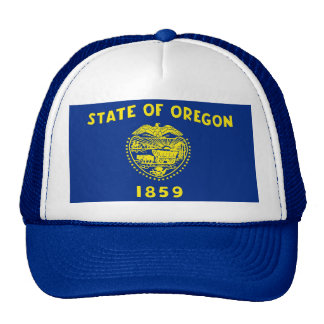 Hat with Flag of Oregon State - USA