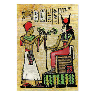 Hathor, Egyptian Goddess, Sycamore Branch on Thron Pack Of Chubby Business Cards