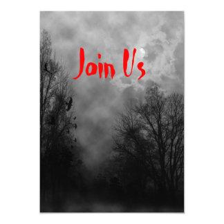 Haunted Sky Custom Halloween Invitation Template