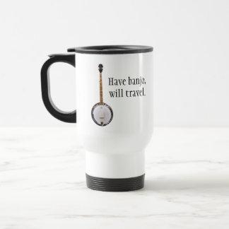 Have Banjo, Will Travel Stainless Steel Travel Mug