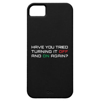 Have you tried turning it off and on again? iPhone 5 case