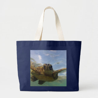 Hawaii Green Sea Turtle Jumbo Tote Bag