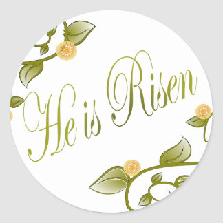 He is Risen Round Sticker