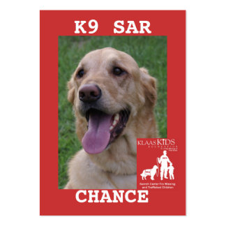 head-CHANCE, KlassKids Search Team K9 Pack Of Chubby Business Cards