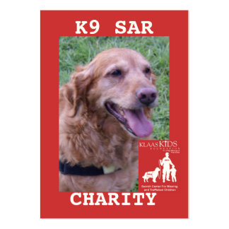 head-CHARITY, KlassKids Search Team K9 Pack Of Chubby Business Cards