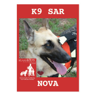 head-NOVA2, KlassKids Search Team K9 Pack Of Chubby Business Cards