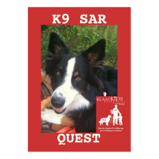 head-QUEST2, KlassKids Search Team K9 Pack Of Chubby Business Cards