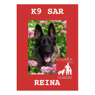 head-REINA, KlassKids Search Team K9 Pack Of Chubby Business Cards