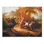 Headless Horseman Pursuing Ichabod Crane Postcard