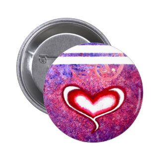 Heart 6 Cm Round Badge