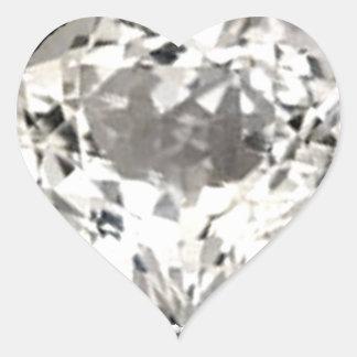 Heart Diamond Print Sticker