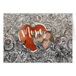 Heart Doodle Mother's Day Kids Photo Folded Card