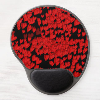 Heart, love, feeling. Red-black. Gel Mouse Pad