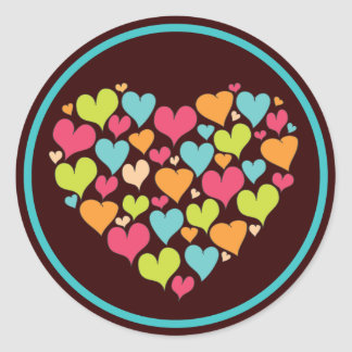 Heart of Hearts Love Sticker in Bright Color